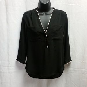 EUC H&M Women's Black Loose Fit Top